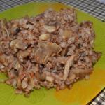 Гречка с грибами по-деревенски