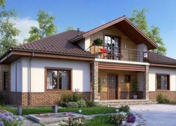 Яркие и очень красивые фасады одноэтажных домов
