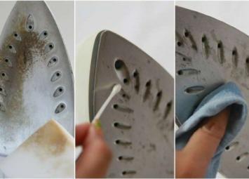 10 простых способов заставить утюг сиять чистотой