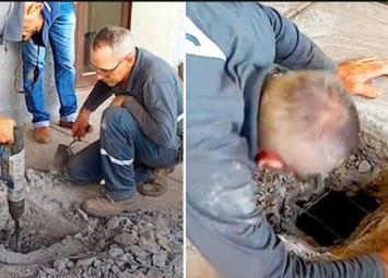 Люди услышали что под землей кто-то плачет и настояли, чтобы работники вскрыли бетонный пол…